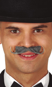 Mens Grey Imperial Moustache