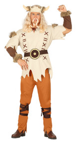 Mens Warrior Viking Fancy Dress Costume