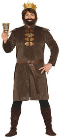 Mens Historical King Fancy Dress Costume