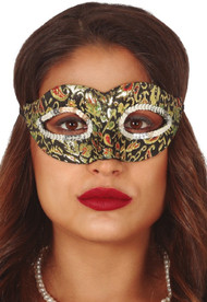 Ladies Golden Venetian Masquerade Mask
