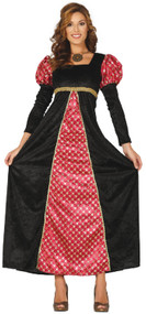 Ladies Medieval Dame Fancy Dress Costume