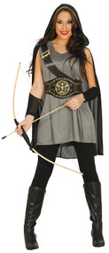 Ladies Medieval Archeress Fancy Dress Costume