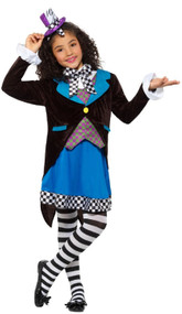 Girls Deluxe Miss Hatter Fancy Dress Costume