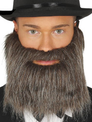 Mens Full Grey False Beard Accessory