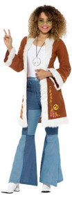Ladies Retro Hippy Fancy Dress Coat