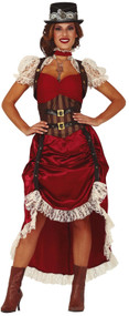 Ladies Victorian Steampunk Fancy Dress Costume