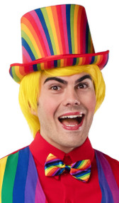 Adult Rainbow Striped Top Hat