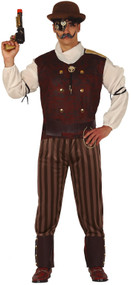 Mens Victorian Steampunk Fancy Dress Costume