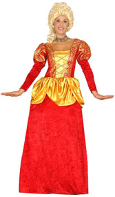 Ladies Red Courtesan Fancy Dress Costume