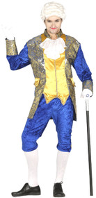 Mens Blue Courtesan Fancy Dress Costume