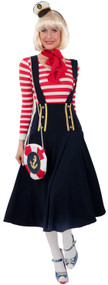 Ladies Midi Sailor Fancy Dress Costume