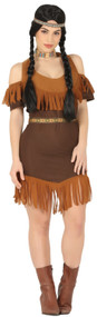 Ladies Classic Native Indian Fancy Dress Costume