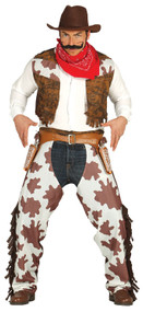 Mens Western Gunslinger Fancy Dress Costume
