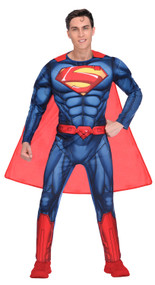 Mens Retro Superman Fancy Dress Costume