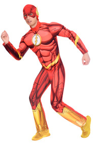 Mens Classic The Flash Fancy Dress Costume