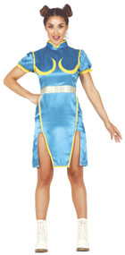 Ladies Gaming Fighter Fancy Dress Costume