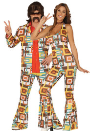 Couples Retro 70s Fancy Dress Costumes