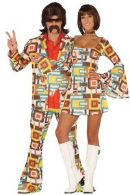 Couples Vintage 70s Fancy Dress Costumes