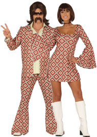 Couples Vintage Disco Dancers Fancy Dress Costumes