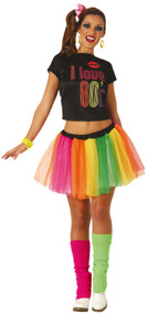 Ladies Love 80's Fancy Dress Costume