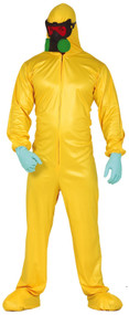 Mens Yellow Biohazard Fancy Dress Costume