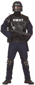 Mens American SWAT Fancy Dress Costume