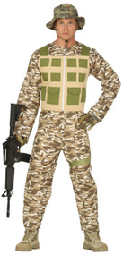Mens Desert Soldier Fancy Dress Costume