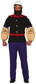 Mens Cartoon Strong Sailor Fancy Dress Costume