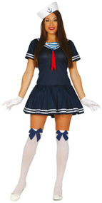 Ladies Marine Sailor Fancy Dress Costume