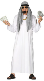 Mens Arabian Sheikh Fancy Dress Costume