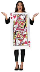 Ladies Queen Of Hearts Card Fancy Dress Costume