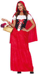 Ladies Traditional Red Riding Hood Fancy Dress Costume