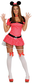 Ladies Cartoon Mouse Fancy Dress Costume