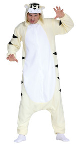 Adults White Tiger Fancy Dress Costume