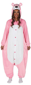 Adults 1960s Pink Cat Fancy Dress Costume