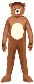 Adults Brown Bear Mascot Fancy Dress Costume