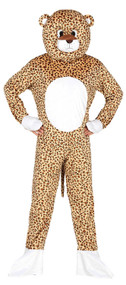 Adults Leopard Mascot Fancy Dress Costume