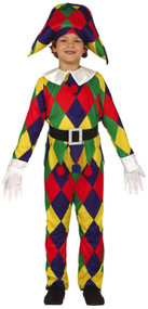 Boys Harlequin Fancy Dress Costume