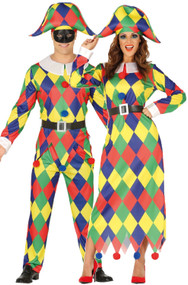 Couples Harlequin Fancy Dress Costumes