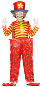 Boys Big Top Clown Fancy Dress Costume
