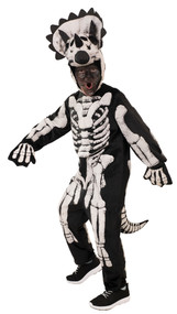 Child's Skeleton Triceratops Fancy Dress Costume
