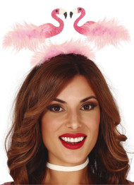 Ladies Flamingo Fancy Dress Hairband
