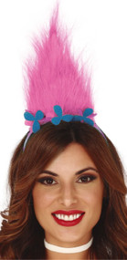 Ladies Pink Dwarf Fancy Dress Hairband