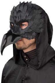 Mens Black Bird Fancy Dress Mask