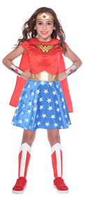 Girls Classic Wonder Woman Fancy Dress Costume