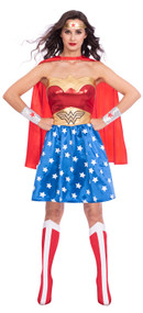 Ladies Classic Wonder Woman Fancy Dress Costume