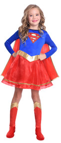 Girls Classic Supergirl Fancy Dress Costume