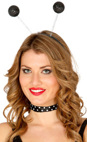 Ladies Black Glitter Party Boppers Headband