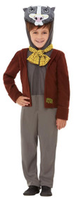 Boys Deluxe Wind In The Willows Badger Fancy Dress Costume