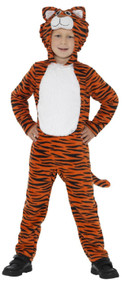 Childs Stripy Tiger Fancy Dress Costume